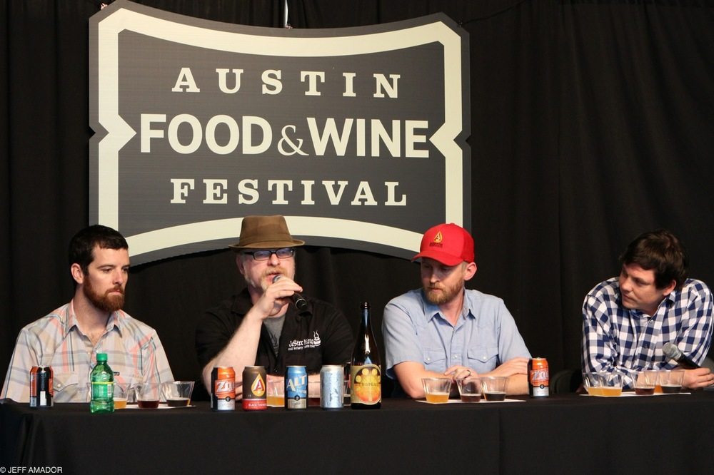 Hops Aboard! panel with the head brewers of Hops & Grain, Jester King, and Austin Beerworks