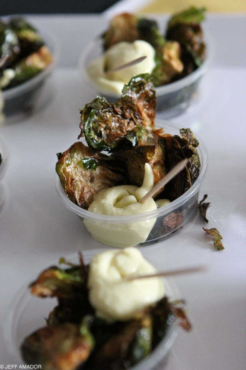 Fried brussels sprouts and garlic aioli from Tapas Bravas