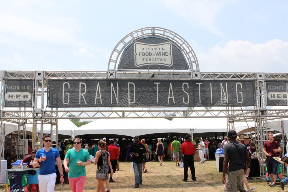 Grand Tasting Pavilion entrance