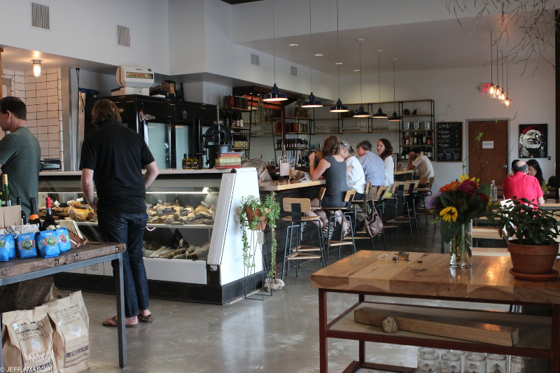 Salt & Time is indeed, quaint, but features a bar that serves a number of craft beers, as well as Cuvee Coffee's Black and Blue nitro cold-brewed coffee.