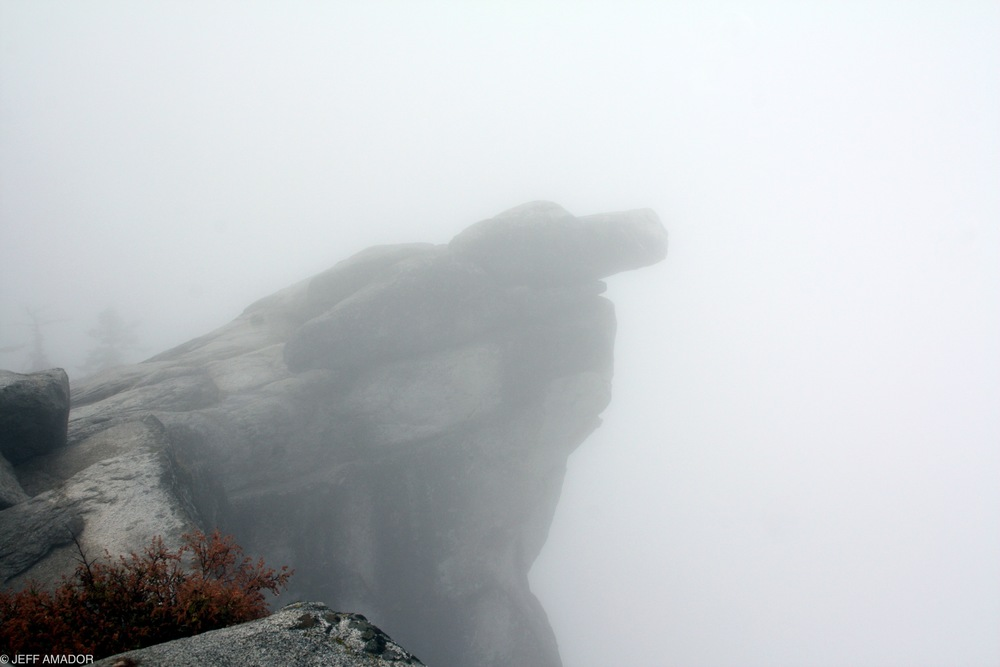 Another of Hanging Rock at Glacier Point, this time with absolutely no view