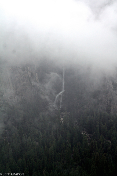 Yosemite Falls is back there somewhere...