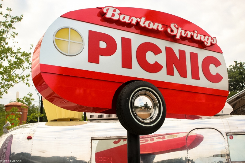 The Picnic on Barton Springs Rd., sure to be one of the premiere food truck locations in Austin in no time.