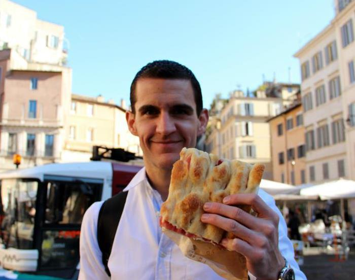 Loving pizza in Rome, Italy