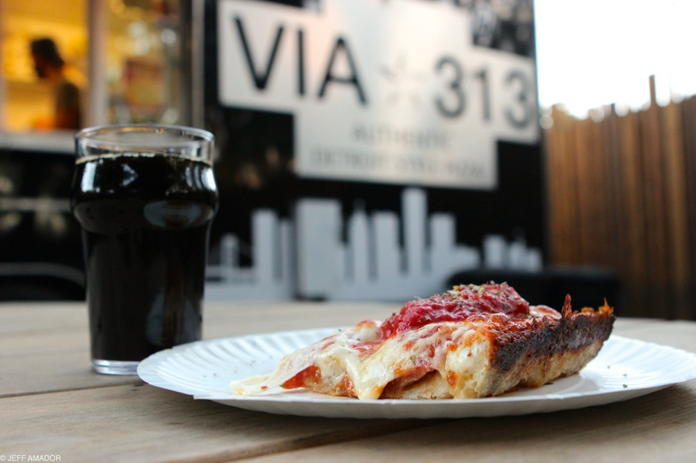 It doesn't get much better than having Via 313 Pizza and a craft beer in the backyard of Craft Pride in Austin, Texas