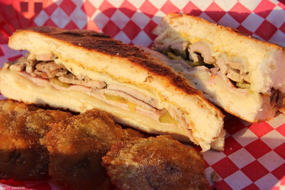 The Texas Cuban's sandwich and tostones