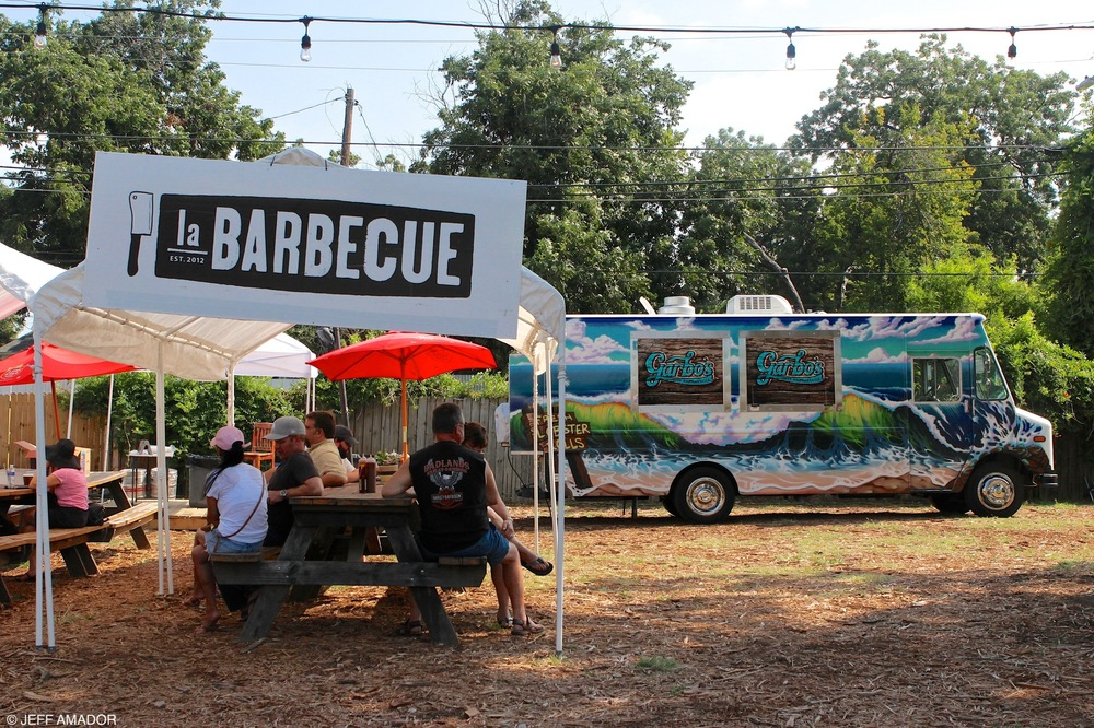 La Barbecue and Garbo's Fresh Maine Lobster, new neighbors at the GoodLife Food Park