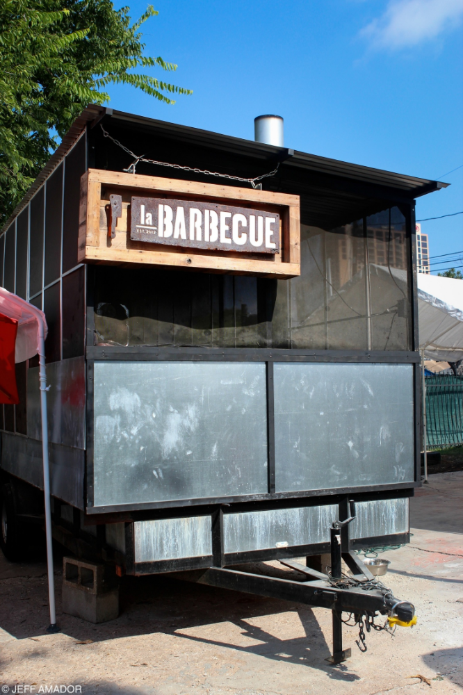 One of La Barbecue's two BBQ pits. They made the move from E. 6th to the GoodLife for even more room to hold their growing crowds, and possibly even to add a THIRD smoker!