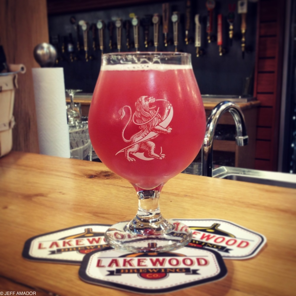 "Lakewood Brewing Company's ""Lion's Share II,"" second anniversary beer"
