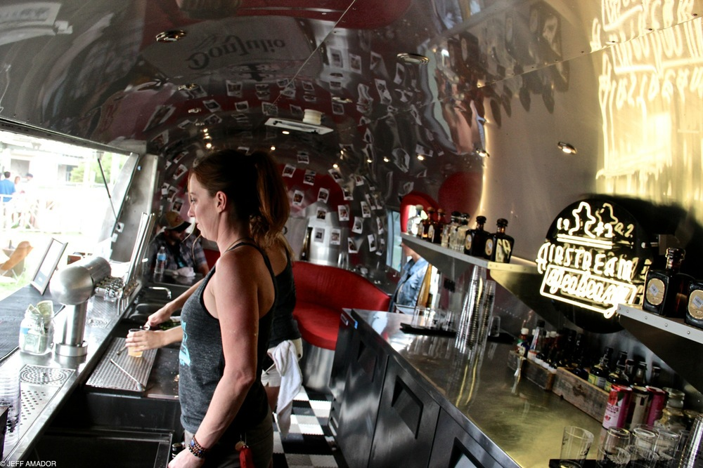 Inside the Don Julio tequila airstream
