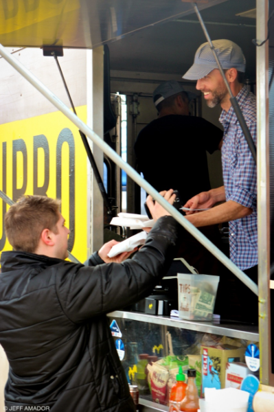 Owner Justin Burrow working the truck at South by Southwest 2014.