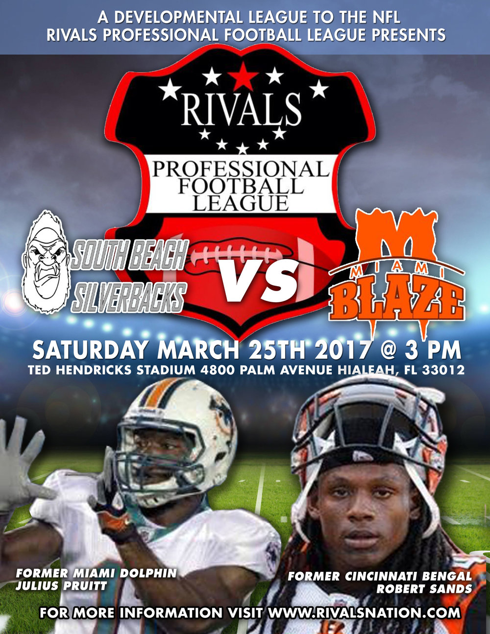 Rpfl Tryouts Rivals Professional Football League