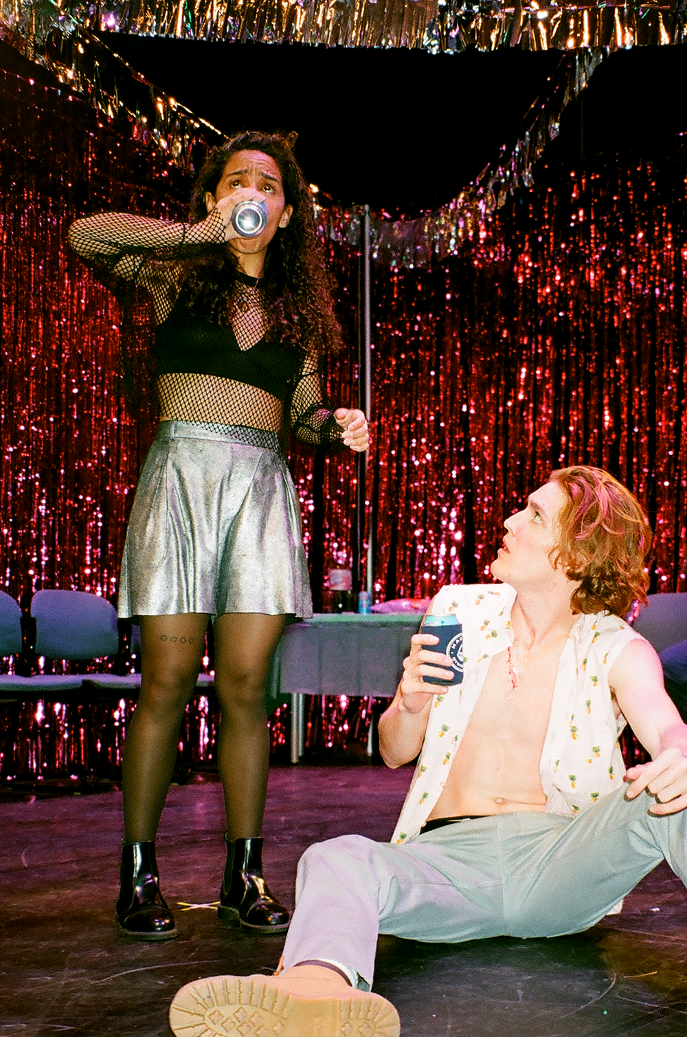 Lindlsey Howard as CANDY (left), Sam Geoffrey as ORPHEUS (right). Photo by Grant Schaefer.