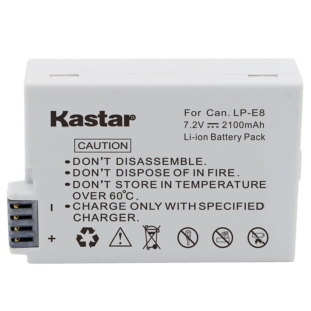 [X2] KASTAR   CANON LP-E8 BATTERY
