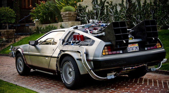You built a time machine out of a Delorean?