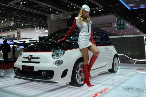 Nice white skirt...the car's