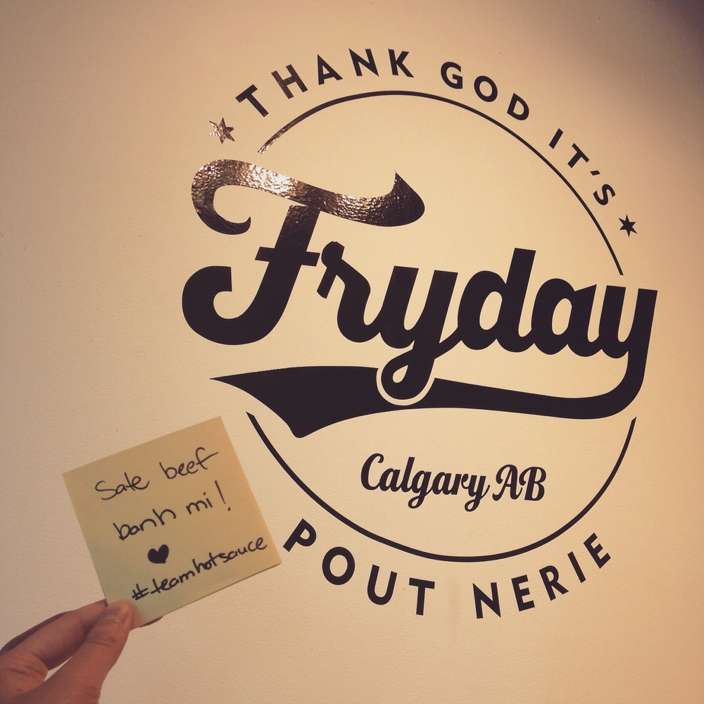 @Fryday_yyc ~ a collab with Engel's bakery + Springbank Cheese & Co, a different take on some amazing styles of poutine here! My personal fav is their #OkonoPoutine !