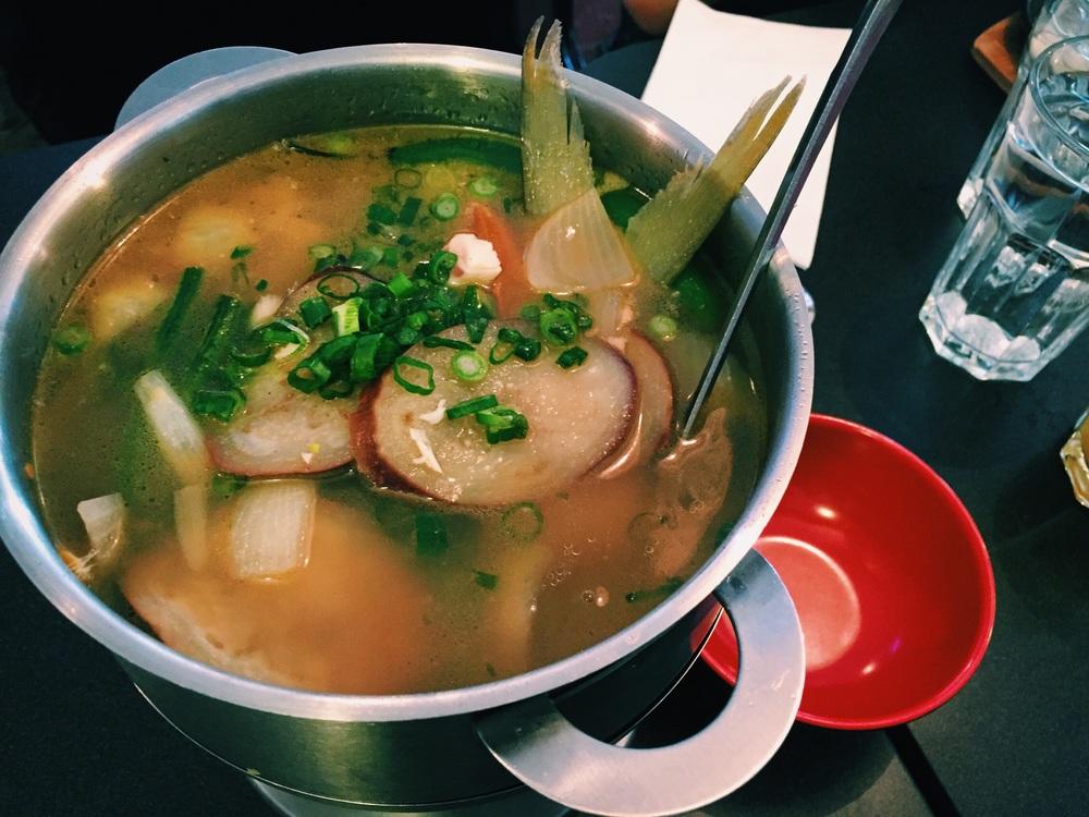 Pompano fish Sinigang
