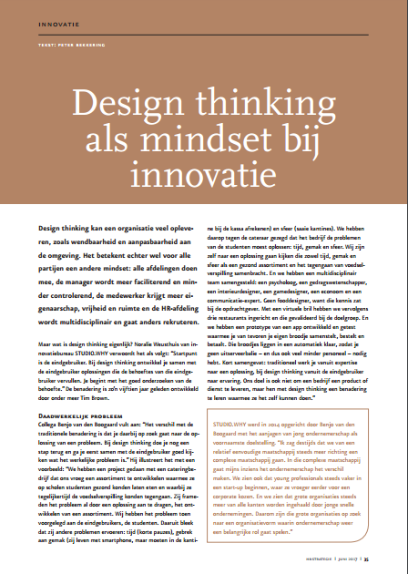 Design Thinking als mindset voor inovatie