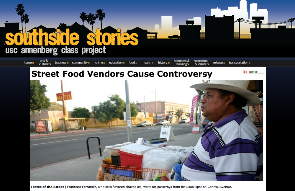 An inside look at the illegal street vendor culture in South Central Los Angeles. Reporting, images, infographic, widgets and HMTL/CSS all done by Natalie Morin.