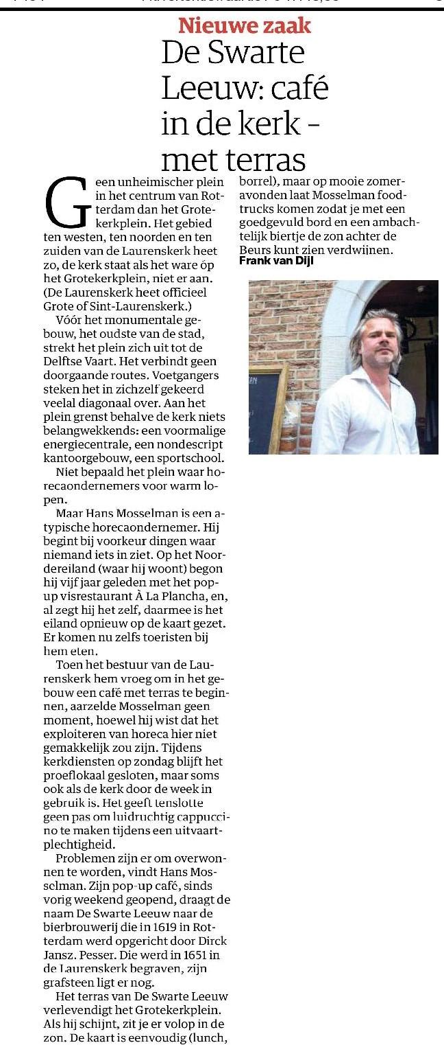 NRC Handelsblad - 13 mei 2016