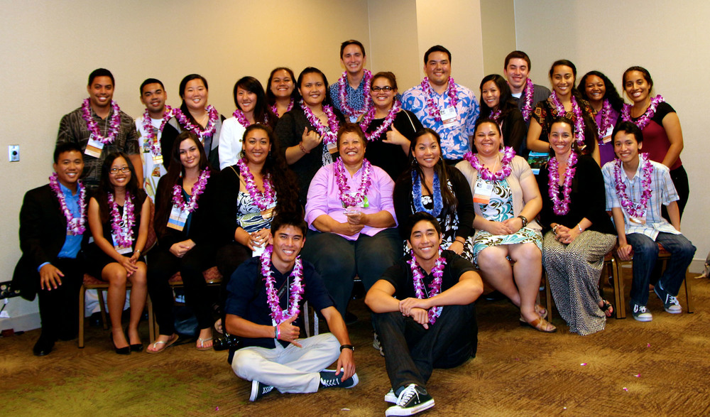 `Ilima SACNAS Chapter at UH at the 2014 SACNAS National Conference in Los Angeles, CA.
