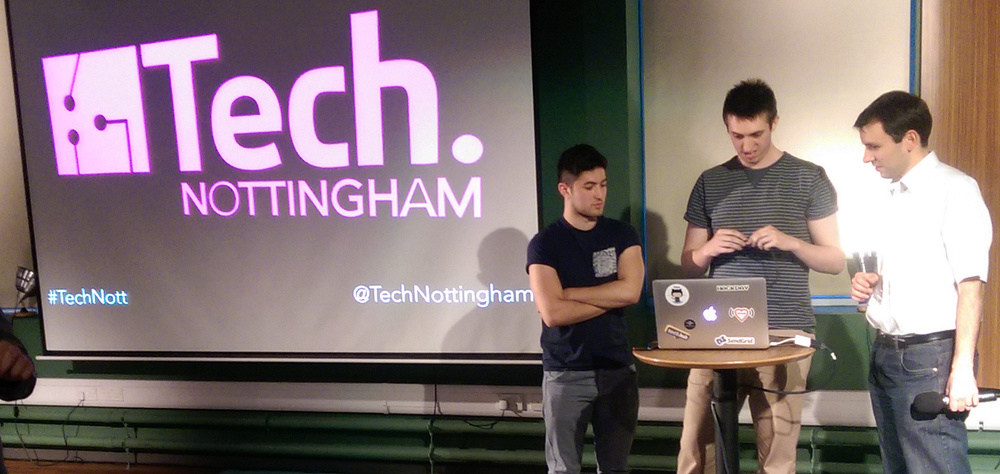 Steve from MultiPie getting involved at July's Tech Nottingham