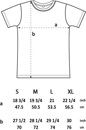 Mens tee shirt size chart