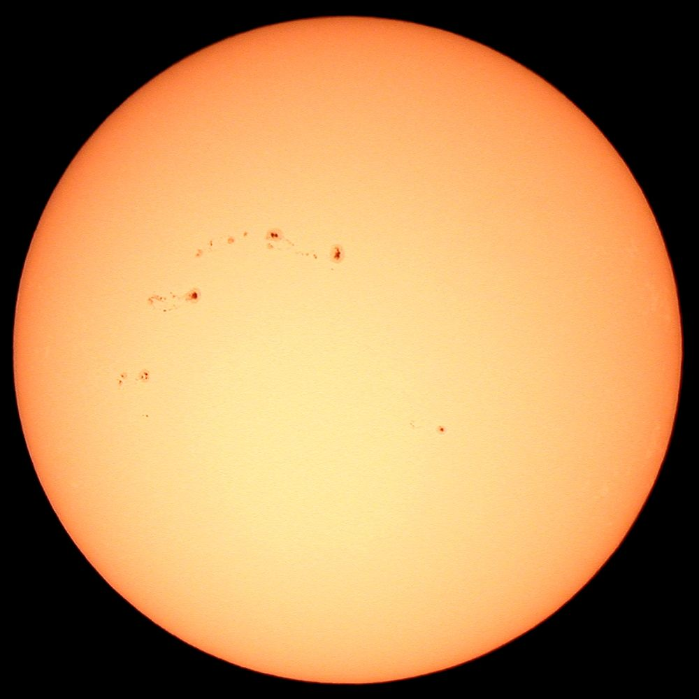 sun in visible light