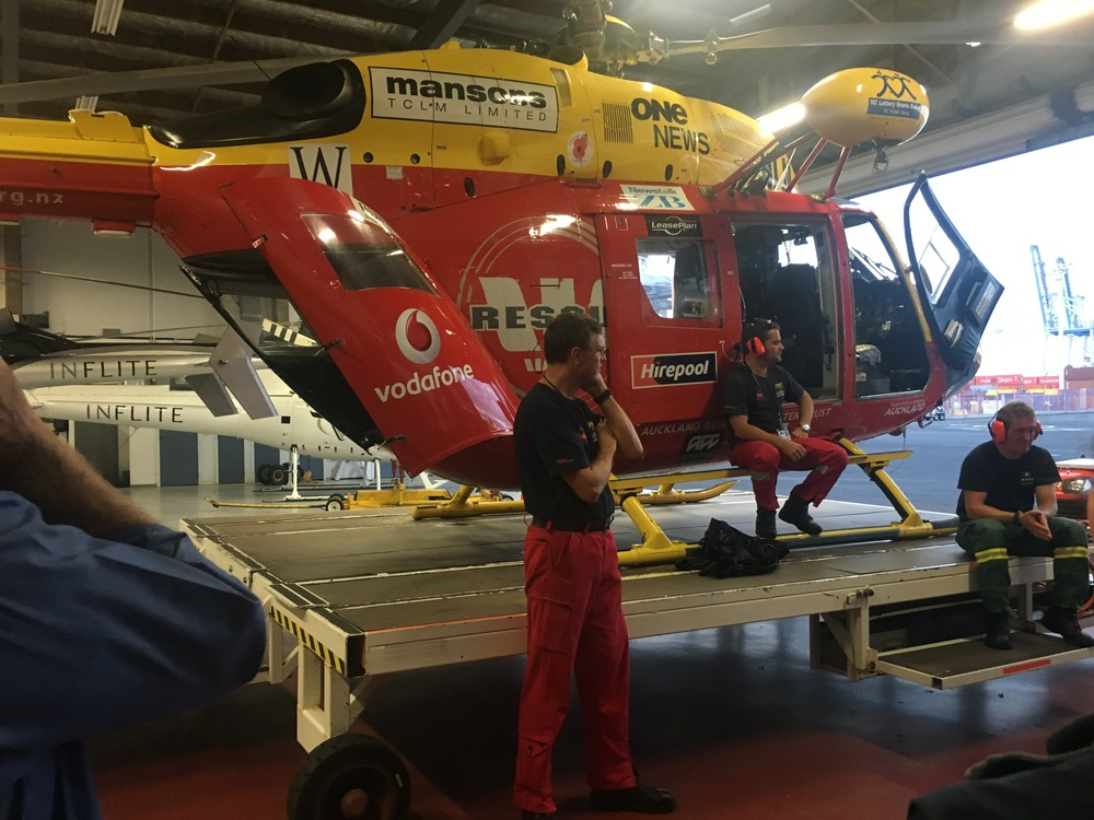 Westpac Rescue Trust Helicopter visit March 2016