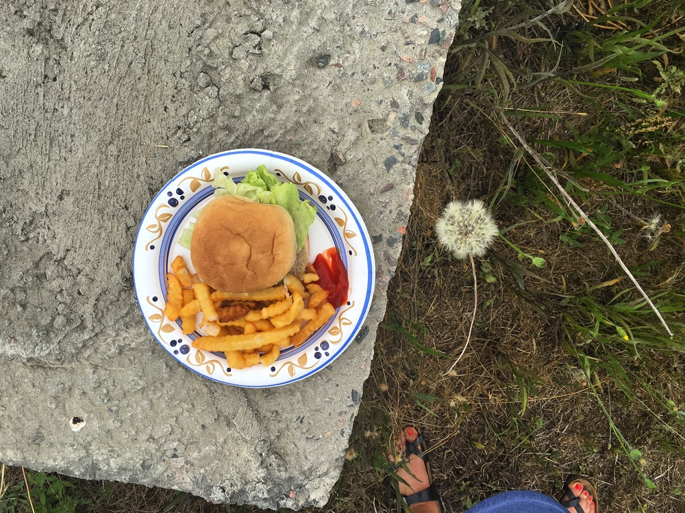 Burgers + Birkenstocks. Summer, finally.