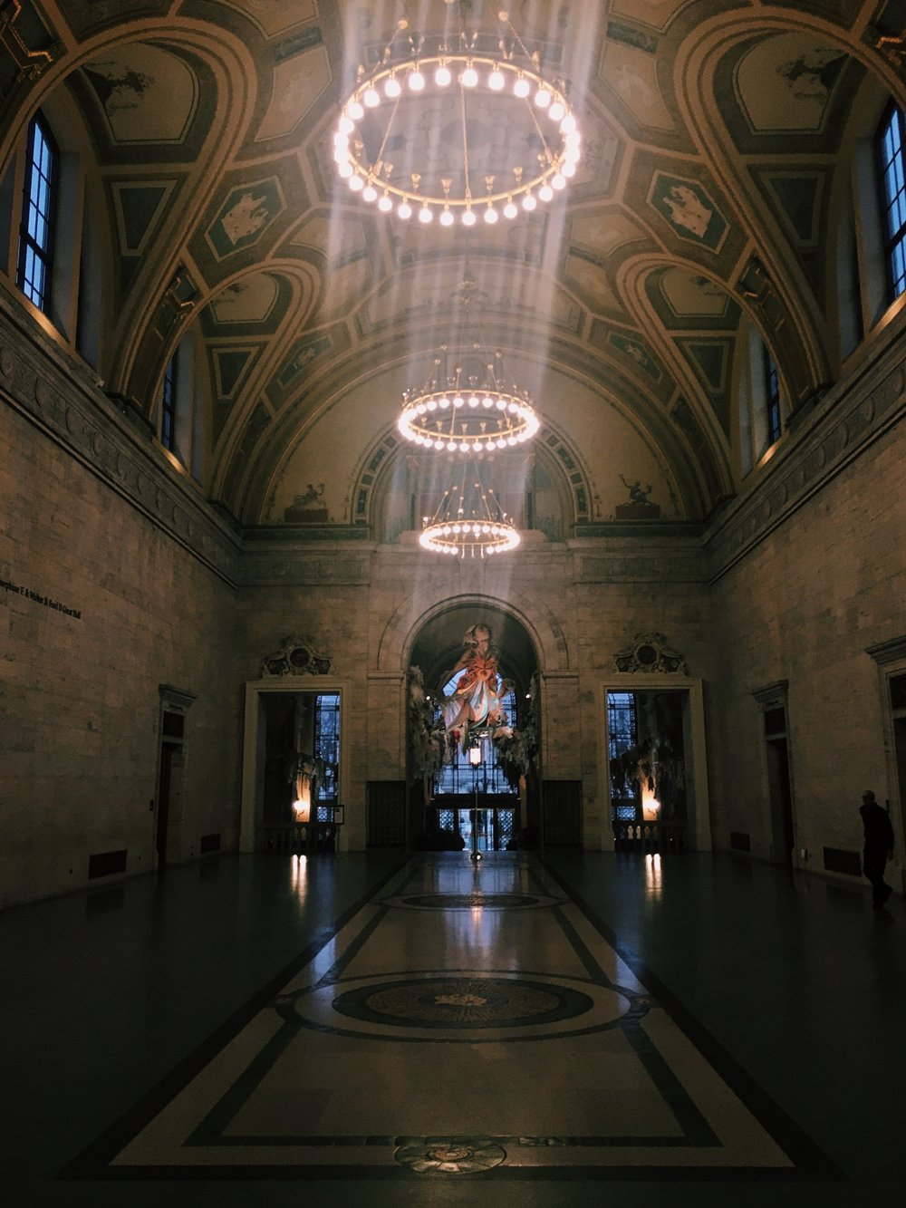 The stunning front hall of the DIA.