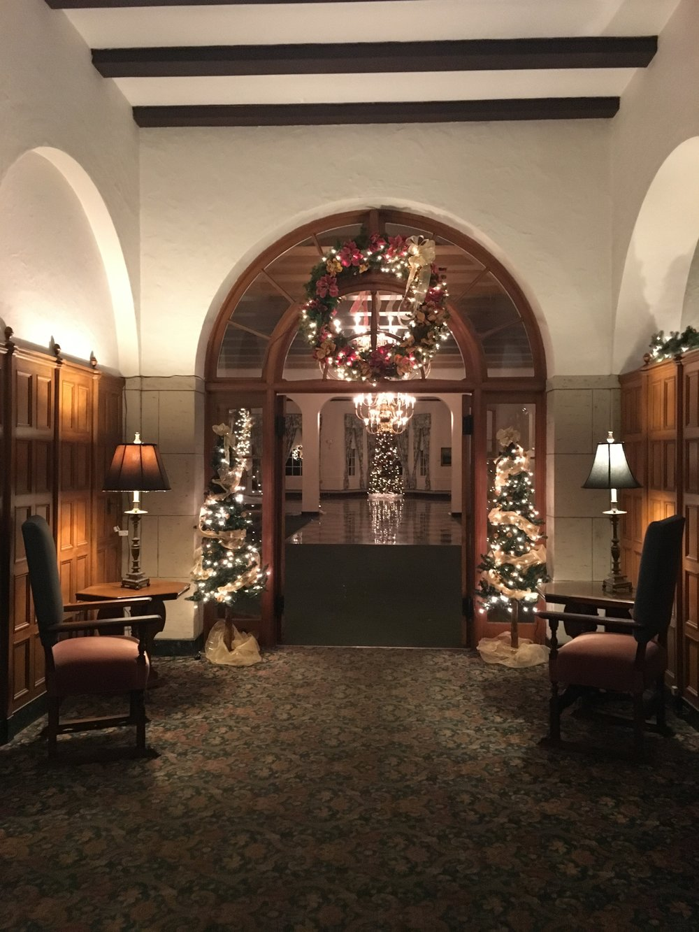 The Detroit Yacht Club, all decked out for Hanukkah. Obviously.