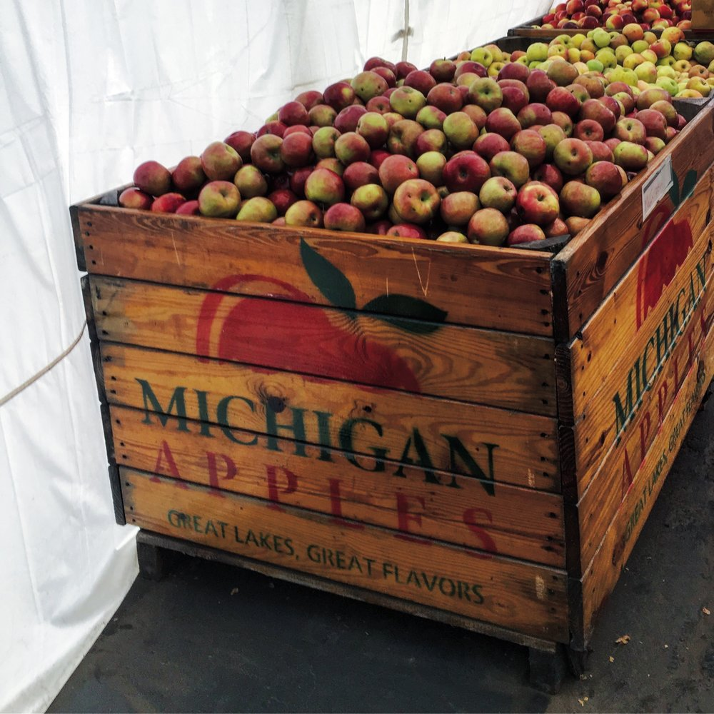 Michigan apples and cider donuts at the Franklin Cider Mill. Always the first stop on my list.