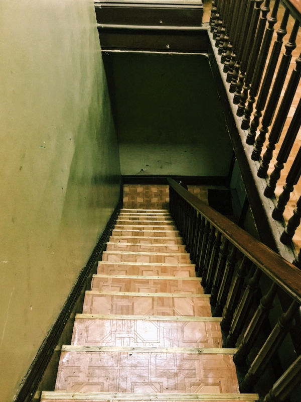 If you're lucky, you can ascend this staircase to our front door.