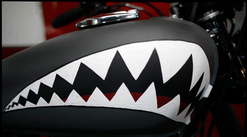Blitz Motorcycles Yamaha 500 Sr Flying Tiger