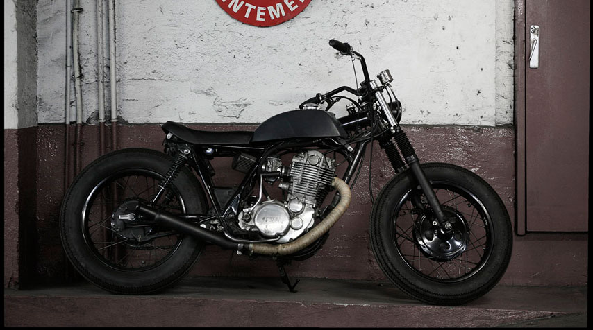 Inspired by the 1950's 'bobber style'.
