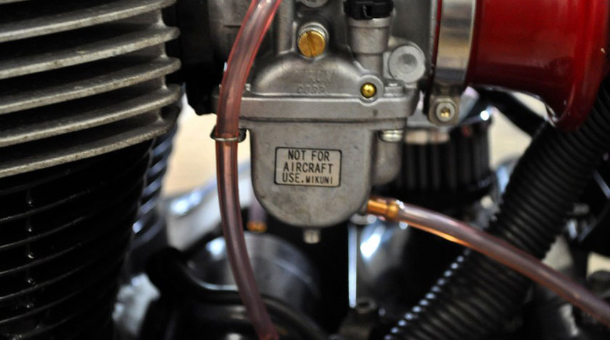 Mikuni VM 34 carburetors to make the engine breathe better!