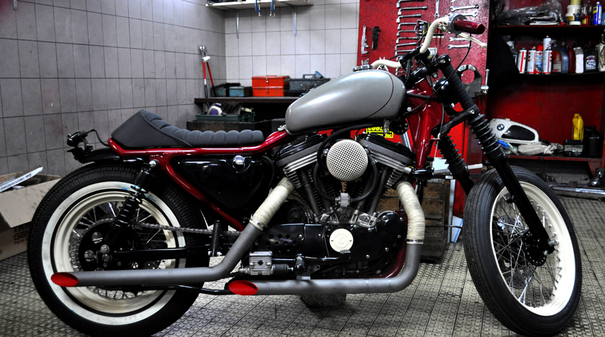 This 91 HD 883 Sportster Was Inspired By The Famousnbspboardtrackers Bike