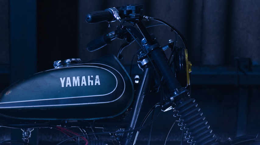 - vintage Yamaha DT 125 tank (as usual: mounted as found) - New Old Stock Yamaha DT 125 fuel petcock