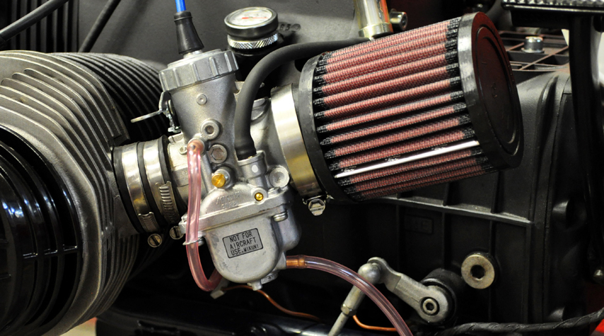 - re-jetted Mikuni VM34 carburators; - K&N air filters.