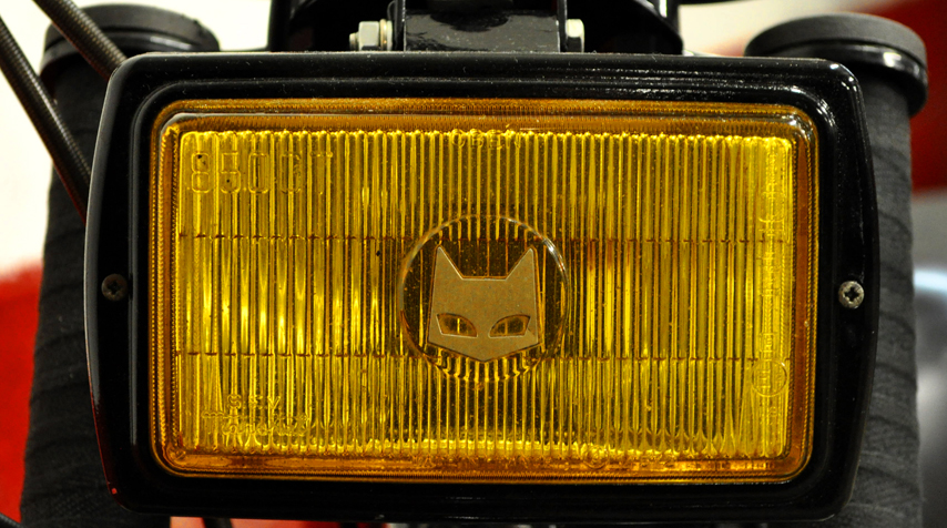 Vintage Marchal reconditioned rally car headlight. With a genuine yellow light.