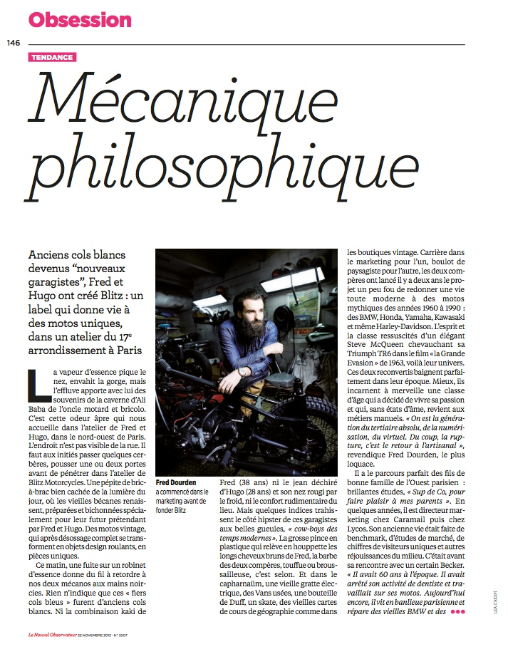 Nouvel Observateur November 2012