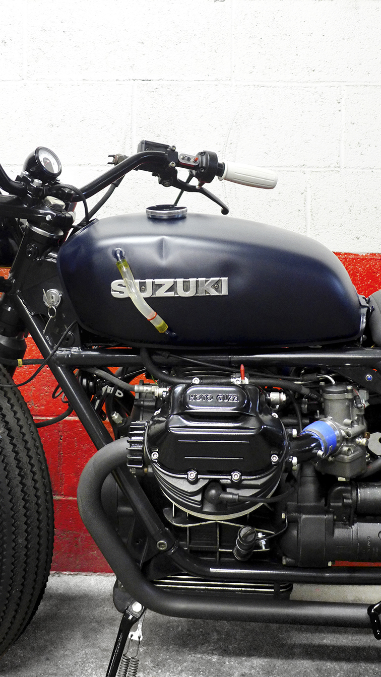 - 100% stainless steel bespoke exhaust pipes (with mat grphite grey ceramic paint);  - Brand new  Dell'Orto PHC 30  carbs.