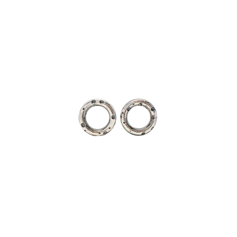 textured sterling silver stud earrings