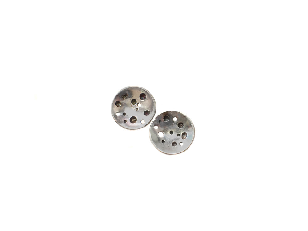 handmade sterling silver stud earrings