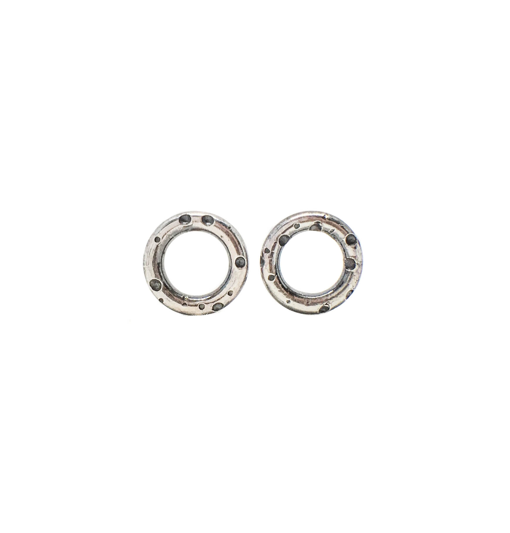 7c889a279 open silver studs with over the moon pattern