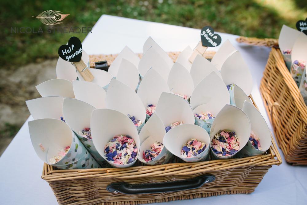 dried petal confetti