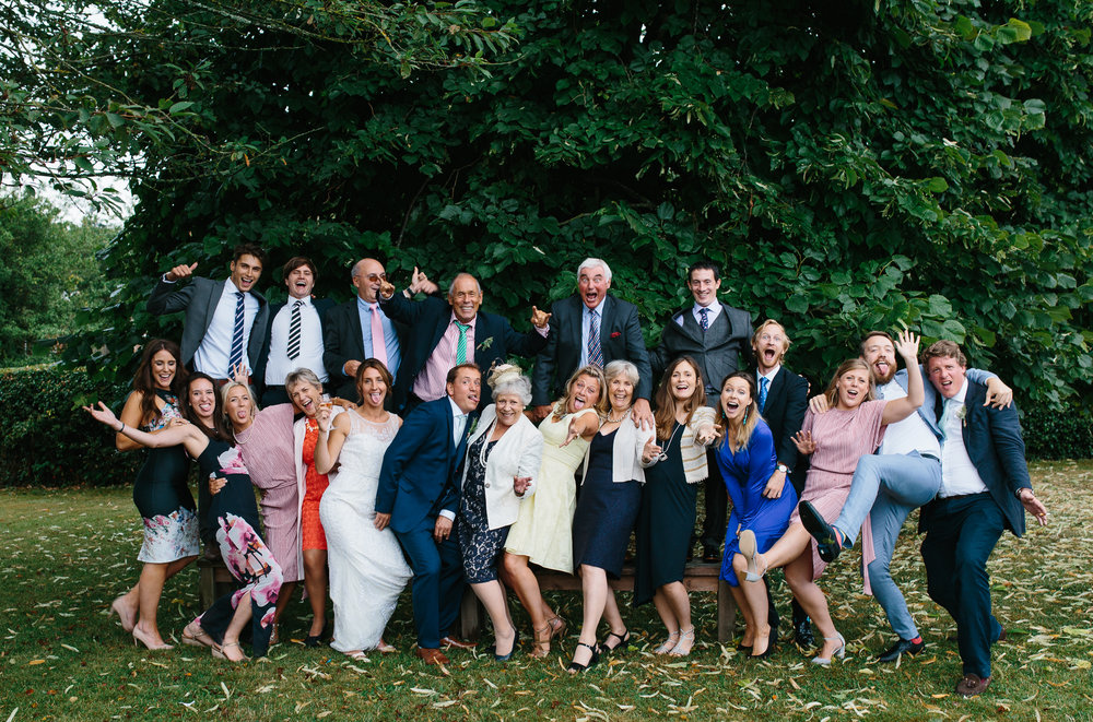 fun family wedding shot