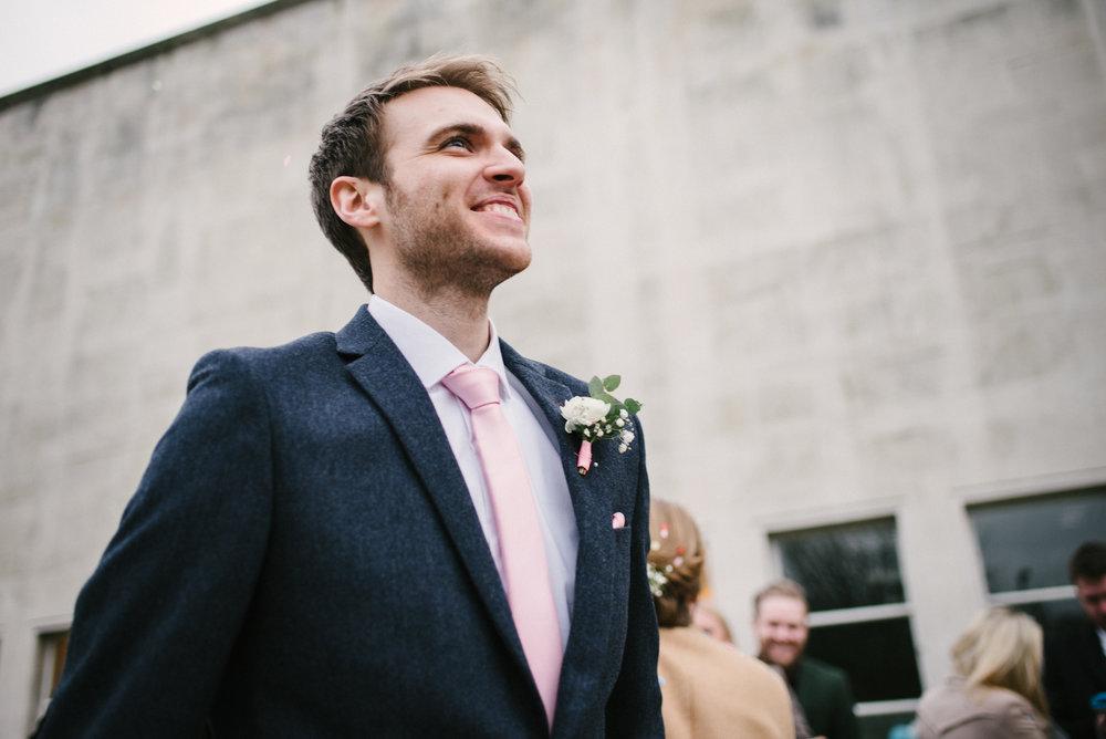 proud groom
